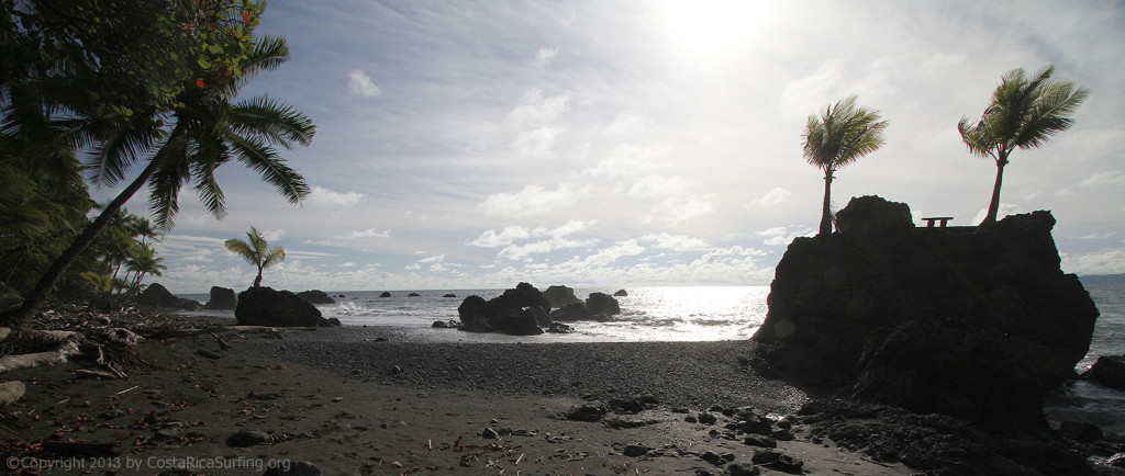 Panmoramic Photo south of Pavones Surf Spot, Costa Rica